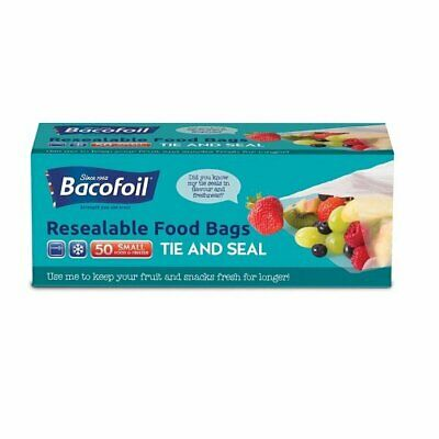 £6.95 • Buy  2 Boxes Of Resealable Tie & Seal Food Bags By Bacofoil