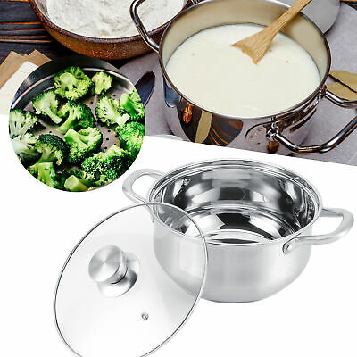 £32.38 • Buy Stainless Steel Stock Pot Cater Stew Soup Brew Boiling Pan Cooking With Lid