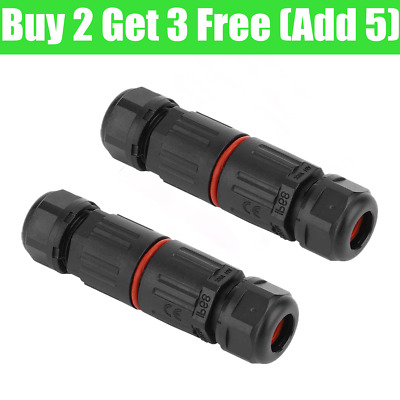 £2.52 • Buy 2 Pole Core Joint Outdoor IP68 Waterproof Electrical Cable Wire Connector UK