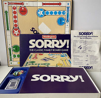 £19.99 • Buy Waddingtons Vintage 1988 Edition Sorry! Family Fun Rare Board Game. Complete VGC