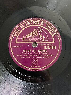 """£7.50 • Buy Spike Jones 78rpm 10"""" William Tell Overture/flying Trapeze"""