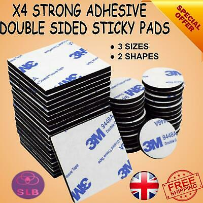 £2.99 • Buy 3MM DOUBLE SIDED STICKY PADS Strong Black Adhesive Mounting Tape Square Round UK