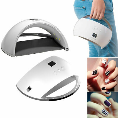£9.99 • Buy SUN6 Auto Motion Sensor LCD Display Timers 48W UV LED Nail Gel Dryer Curing Lamp