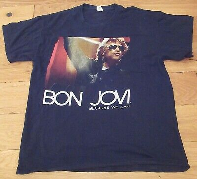 £20 • Buy Bon Jovi Because We Can Tour 2013 T-shirt - Double Sided
