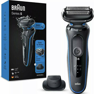 £47.99 • Buy Braun Series 5 50B1200S EasyClean Electric Shaver Precision Trimmer Wet/Dry Blue