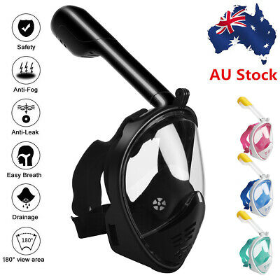 AU29.50 • Buy 180° Full Face Diving Seaview Snorkel Snorkeling Mask Swimming Goggles For GoPro