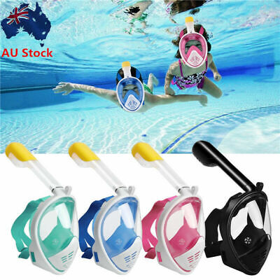 AU29.33 • Buy AU Anti-Fog Diving Swimming Full Face Mask Surface Snorkel Scuba Fit GoPro Adult