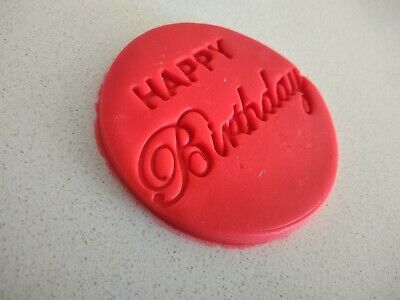 AU5 • Buy Happy Birthday Cookie Fondant Stamp And Cutters 70mm