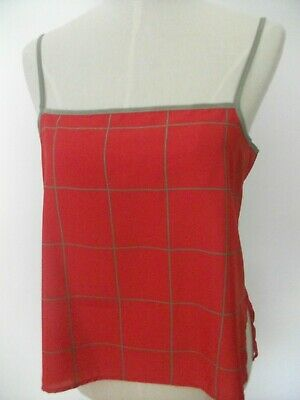 £5.50 • Buy Vintage St Michael 80's 90's Cami Top Red Size 16 Marks And Spencer