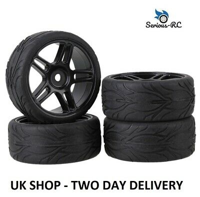 £13.99 • Buy  RC Car Wheels Upgrade Fit 1:10 Scale Models With DRY Grip Tyres - Black 5 Star