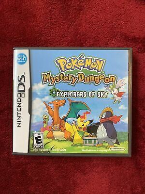$119 • Buy Pokemon Mystery Dungeon: Explorers Of Sky (DS, 2009) Authentic, Case&ManualOnly