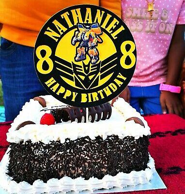 £4.99 • Buy Personalised  Bumblebee Transformers Autobots  Any Name/age Birthday Cake Topper