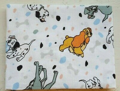 £2.99 • Buy Disney 101 Dalmatians Lady And The Tramp Dogs - Fat Quarter - 100% Cotton Fabric