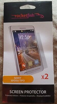 £4 • Buy Sony Xperia Tipo Twin Pack Screen Protector RF-ETX2CP-K  By RocketFish