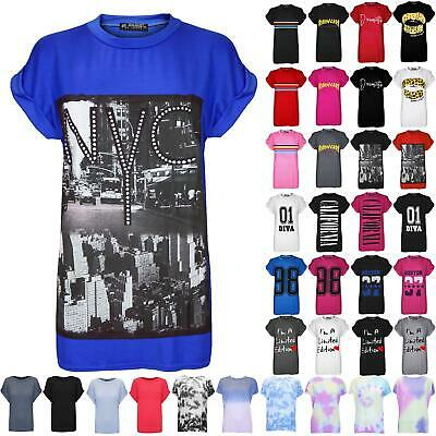 £2.99 • Buy Ladies Womens Oversized Print New York City NYC Baggy Stretchy T Shirt Plus Size