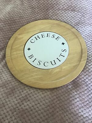 £15 • Buy Large Wooden & Ceramic Lazy Susan Cheese & Biscuits Board 36cm Wide