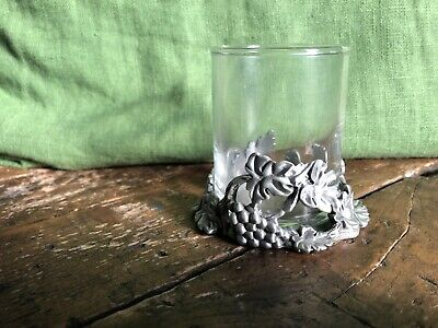 £13.95 • Buy  Seagull Canada Pewter Etain Zinn 1993 Candle Holder Grapevine