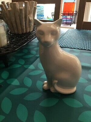 £35 • Buy POOLE POTTERY White 🐱 Cat! PURRFECT,