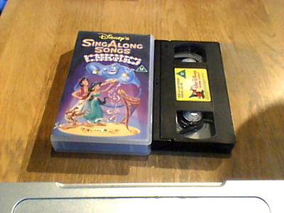 £10.99 • Buy WALT DISNEY ALADDIN SING ALONG SONGS UK PAL VHS VIDEO 1994 Song Of The South