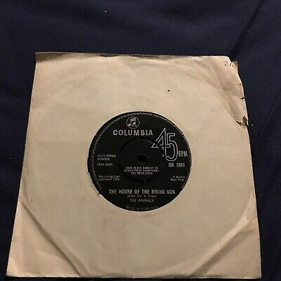 £4.99 • Buy The Animals - House Of The Rising Sun Vinyl 7 Inch Record Single