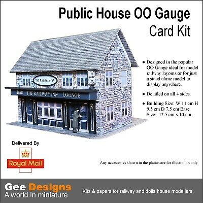 £5.99 • Buy Public House OO Gauge Model Railway Building Card Kit For Model Makers Crafters