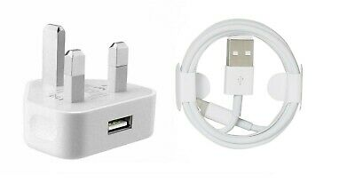 £1.79 • Buy 100%Genuine CE IPhone Charger UK Main Plug & USB Sync Cable For Apple IPad,iPhon