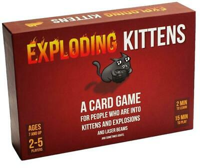 AU19.99 • Buy Exploding Kittens - Easy Family-Friendly Party Games *Bundle Save**AU STOCK