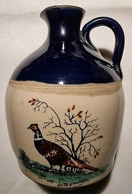 £7.95 • Buy Govancroft Stoneware Jug With Painted Pheasants Signed, Midnight Blue.