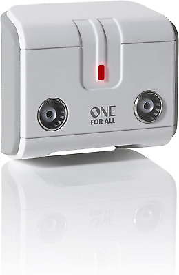 £14.63 • Buy One For All Signal Booster/Splitter For TV - 2 Outputs (14X Amplified) - Plug An