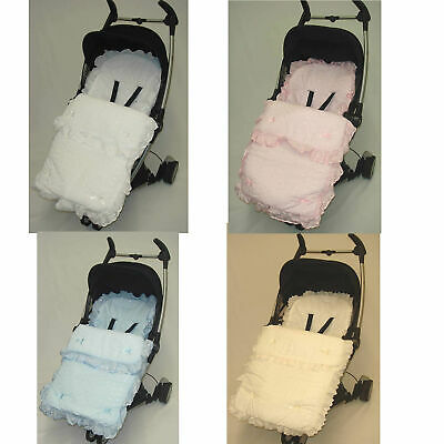£19.99 • Buy Beautiful Frilly Broderie Anglaise Footmuff/ Cosy Toes For Bugaboo Bee Cameleon
