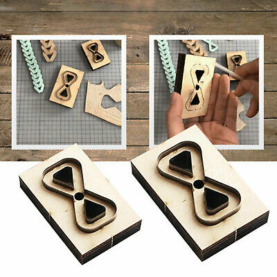 £6.99 • Buy Leather Wooden Cutter Mold Metal Cutting Dies Template DIY Leathercraft Tool UK