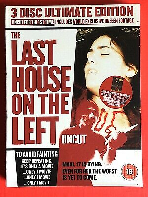 £10 • Buy The Last House On The Left - Uncut - 3 Disc Ultimate Edition - Dvd