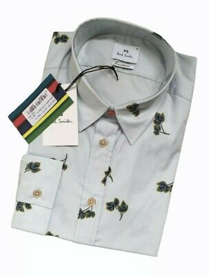 £44.95 • Buy Paul Smith Tailored Fit Mens Long Sleeve Leaf Print Shirt Size M - Bnwt