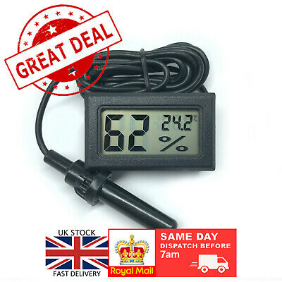 £4.99 • Buy Digital Thermometer Hygrometer For Incubator Humidity   Fermenting Brewing