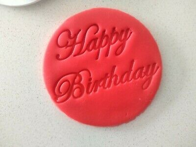 AU5.99 • Buy Happy Birthday Cookie Fondant Stamp And Cutters 70mm