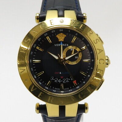 £454.40 • Buy Versace Men's Watch V Lace GMT SS Leather 29G70D282 S282 From Japan N0905