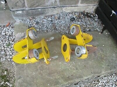 £50 • Buy 3 Ton Beam Girder Trolley Chain Block Tackle 3000kg 100mm - 300mm Quick Release