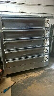 £4895 • Buy Tom Chandley 15 Tray 5 Deck Oven With Steam And Canopy Bakery Equipment Working