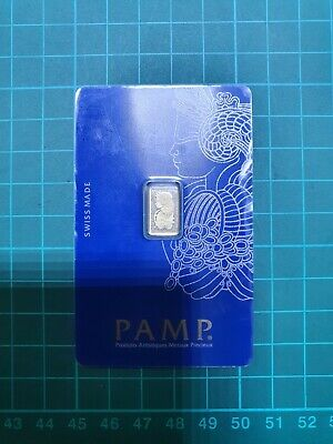 £64 • Buy 1g Fine Gold Bar *NEW* - PAMP Suisse Lady Fortuna VERISCAN™