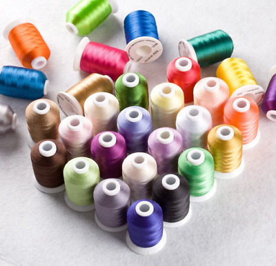 £59.90 • Buy Simthread Embroidery Machine Thread 40 Brother Colours 1100Y Janome Pfaff Singer