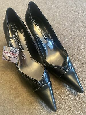 £15 • Buy BNWT Next Ladies Black Heel Shoes Leather Sole Reviver Size 6 39