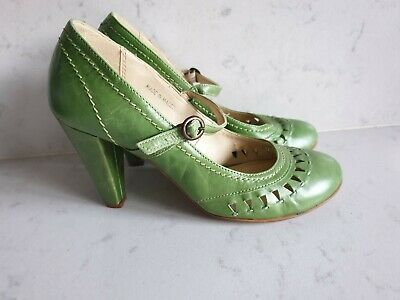 £18 • Buy VINTAGE NEXT Sole Reviver 1920s 30s 40s Style Green Mary Jane Shoes UK 3
