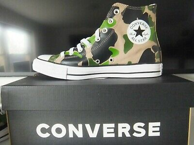 £29.95 • Buy Converse All Star Camo Camouflage Hi Top Canvas Trainers 166714C NEW UK 8.5