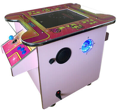 £749 • Buy *NEW* Unique PINK  Arcade Machine Cocktail Table 60 Retro Games 2 Player Gaming