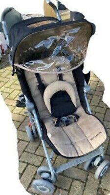 £65 • Buy Maclaren Techno XLR Stroller In Black And Beige With Footmouth And Rain Cover