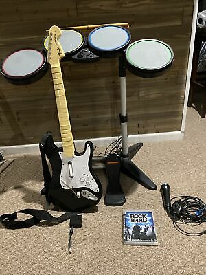 £217.54 • Buy Rock Band 1 PlayStation PS2 PS3 PS4 Complete Drum Set Bundle Guitar W/ Dongle