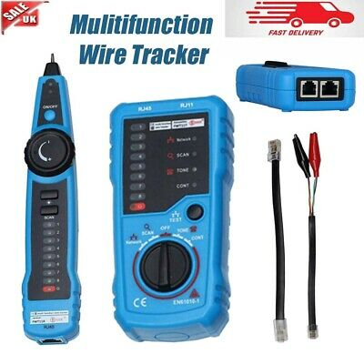 £21.34 • Buy RJ11 Telephone Cable Tester Wire Tracker Line Toner LAN Phone Network Tracer UK