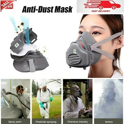 £9.42 • Buy Reusable Industrial Mask With Filter Chemical Anti-Dust Safety Face Respirator