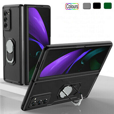 AU19.87 • Buy For Samsung Galaxy Z Fold 3 2 Hybrid Hard PC Ring Holder Stand Bumper Case Cover