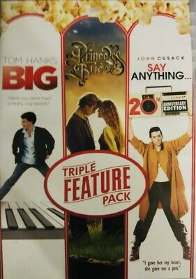 AU16.16 • Buy Triple Feature Pack: Big, Princess Bride, Say Anything DVD NEW SEALED 2013
